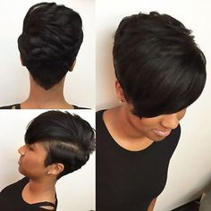 STYLIST FEATURE| Lovr this #pixie styled by #ATLStylist @hairbylatise ❤️Simple yet classic #voiceofhair ========================= Go to VoiceOfHair.com ========================= Find hairstyles and hair tips! =========================