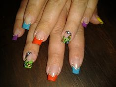 FLOWERS IN COLORS!!! by R7777 - Nail Art Gallery nailartgallery.nailsmag.com by Nails Magazine www.nailsmag.com #nailart