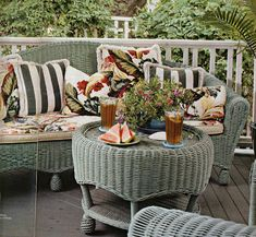 Lallee's Cottage: Friday Inspiration~Wicker Porches