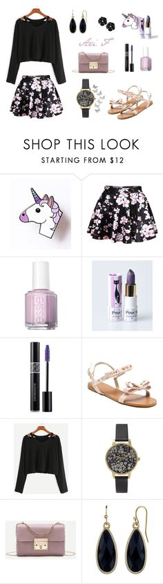 """""""Pretty Girl in Sandals (I) - Evening"""" by ari-shej ❤ liked on Polyvore featuring WithChic, Essie, Christian Dior, Olivia Burton and 1928"""