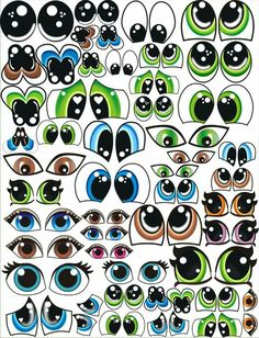 @ disegni di occhiali per fare cartamodelli, Olhinhos @ designs of glasses to make patterns, Olhinho Clay Pot Crafts, Paper Crafts, Doll Face Paint, Face Template, Flower Pot People, Cartoon Eyes, Crazy Eyes, Eye Painting, Doll Eyes