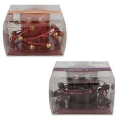 STRAITS WINTER ROSE GLASS CANDLE & BERRY WREATH  STYLE -12551