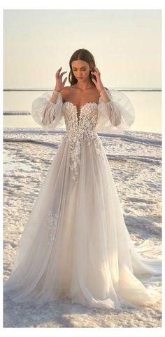 Lace Beach Wedding Dress, Country Wedding Dresses, Dream Wedding Dresses, Wedding Gowns, Lace Wedding, Beach Wedding Outfits, Kleinfeld Wedding Dresses, Wedding White, Summer Wedding