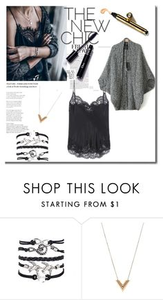 Cardigan plus lace top by kasia-besler on Polyvore featuring moda, Louis Vuitton and Givenchy