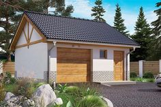 Projekt domu BW-03 wariant 5 108,7 m2 - koszt budowy - EXTRADOM Home Fashion, Outdoor Structures, Cabin, House Styles, Home Decor, Little Cottages, Decoration Home, Room Decor, Cabins