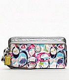 COACH POPPY IKAT DOUBLE ZIP WALLET....This is going to be my next wallet