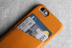 Can't get any more classier than this tan leather iPhone case by Mujjo