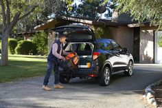 Another day, another cargo area to fill with camping gear and friends. Consider the Honda HR-V Crossover ready for anything.  Honda reminds you to properly secure items in the cargo area.