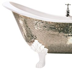 Sicis Alba 01 Tub in Platinum-Gold Mosaic