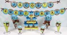 Giraffe Baby Shower Candy Buffet