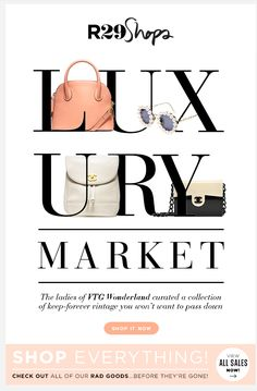#r29 / 2013 Luxury Market type running over two lines