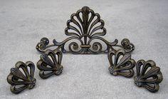 Drapery Medallion Set - Crown with side medallions.  By Metropolis Iron, Inc. http://metroiron.net/portfolio/