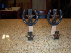 Western style gun rack, towel holders,etc.