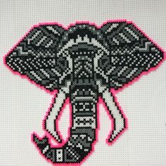 Tribal elephant hama beads by randomdanishcitizen