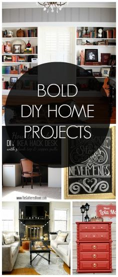 10 Bold DIY Home Projects featured on Design, Dining & Diapers - such an inspirational collection!