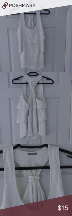 Charolette Russe top. Small Adorable white layered, flowy halter top. Charlotte Russe Tops Tank Tops