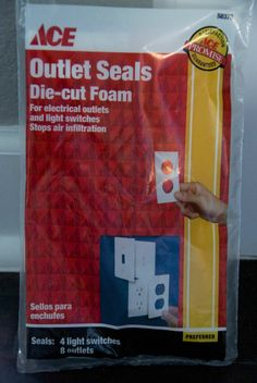 Pre-cut insulating foam for light switches and outlets - supposed to help keep cold air out.