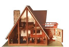 The One and Only A Frame Dollhouse Website For Devoted Fans: Cool, unusual houses of note...
