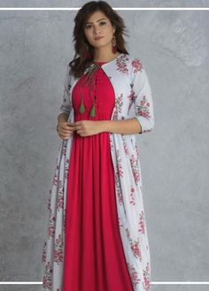 You sought for: shrugs for evening wear! Finthousands of hand crafted, old, and special items. Simple Kurti Designs, Stylish Dress Designs, Kurta Designs Women, Dress Neck Designs, Saree Blouse Designs, Stylish Dresses, Shrug For Dresses, Indian Gowns Dresses, Kurti With Jacket