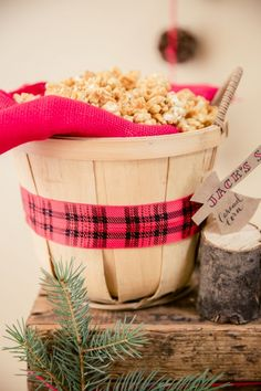 Boys Lumberjack Themed Birthday party Food Popcorn Ideas