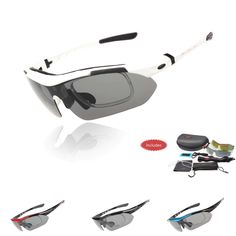 Cycling Eyewear Professional Polarized Cycling Glasses Bike Goggles Outdoor Sports Bicycle Sunglasses UV 400 With 5 Lens 5 color *** This is an AliExpress affiliate pin. Detailed information can be found on AliExpress website by clicking on the image Cycling Sunglasses, Uv Sunglasses, Sports Sunglasses, Polarized Sunglasses, Mens Trainers, All About Fashion, Eyewear, Sneaker, Stuff To Buy