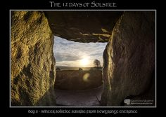 Mythical Ireland blog: The 12 days of Solstice - Day 11 - Winter Solstice sunrise viewed from the doorway of Newgrange