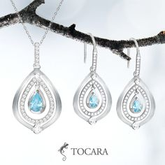 Tocara Paige Necklace & earrings | DiAmi - Sterling Silver - Rhodium plated. Definitely stunning for an exclusive hostess item! Message me to start your new business today!