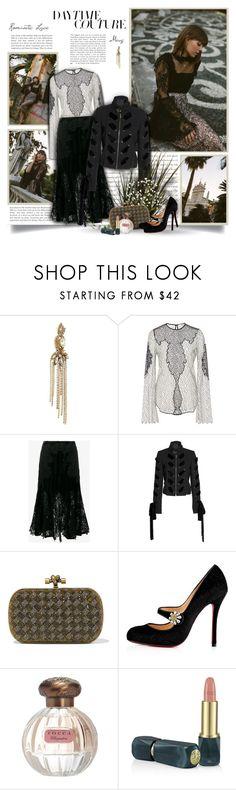"""Daytime Couture"" by thewondersoffashion ❤ liked on Polyvore featuring Erickson Beamon, SemSem, Jonathan Simkhai, Elie Saab, Bottega Veneta, Christian Louboutin, Tocca and Oribe"