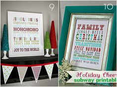 Roundup: Free Christmas Printables for the Home