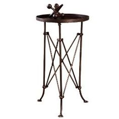 """Metal Round Table - 25.25"""""""