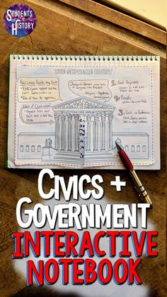 This compleet interactive notebook for Civics and American Government is perfect for your middle school classroom! There are almost 90 pages of activities for your students to work on that are engagin Social Studies Lesson Plans, Social Studies Notebook, 4th Grade Social Studies, Social Studies Classroom, Social Studies Activities, Teaching Social Studies, School Classroom, Educational Activities, 8th Grade History