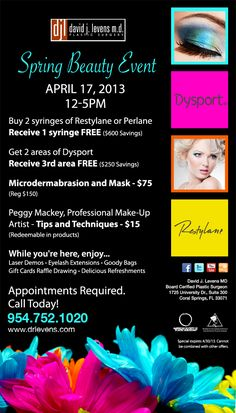 We have some amazing specials for our Spring Beauty Event