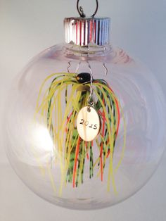 Personalized Christmas 2014 Ornament with real by FishWithHope