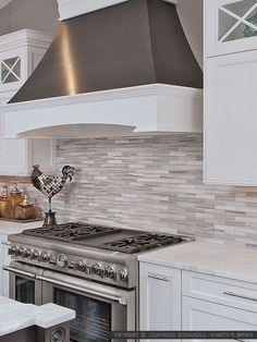 Kitchen Backsplash White gray white some brown tones modern subway kitchen backsplash tile