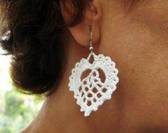 PDF Tutorial Crochet Pattern...Dangle Earrings -5
