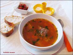 Ciorba cu oase garf Supe, Thai Red Curry, Ethnic Recipes, Food, Essen, Meals, Yemek, Eten