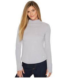 Mountain Hardwear Daisy Chain Long Sleeve T-neck Shirt In Cotton Mountain Hardwear, Daisy Chain, Double Knitting, Knitted Fabric, Turtle Neck, Pullover, Long Sleeve, Sleeves, Sweaters