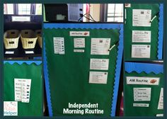 Independent Morning Routine in an Autism Classroom