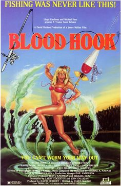 Blood Hook (1986)-During a fishing competition people are killed off by a maniac who uses a giant fish hook as his weapon of choice.  Amusing at times, and the ending is just so ridiculous, but it does wear thin after a while.
