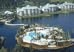 Orlando Marriott Cypress Harbour pool aerial view