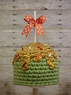 Candy Apple Crochet Newborn Photography Prop by ModisteBee on Etsy