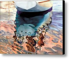 Moment Of Reflection Viia Canvas Print / Canvas Art By Marguerite Chadwick-juner