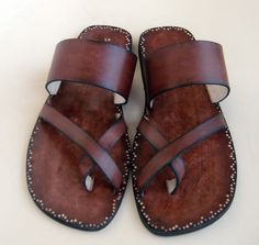 Men Sandals Leather  Valor by Calpas on Etsy, $70.00
