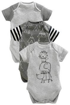 Buy Three Pack Short Sleeve Elephant Bodies (0-2yrs) online today at Next 7b898a2c08