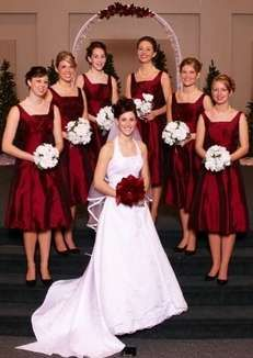 Winter Wedding Braidmad Dresses-  http://www.weddingair.com/winter-wedding/bridesmaid-dresses.html#