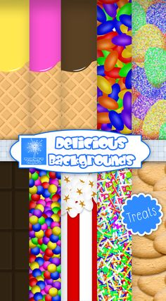 Delicious Backgrounds {Treats edition} - Ready to use #sweet #Clipart
