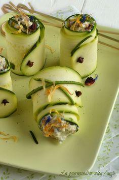 Roulés courgettes crues farcies à la provençale végétal
