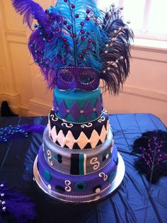 Masquerade Ball cake my mother and I made.
