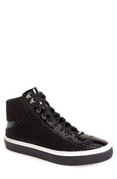 Jimmy Choo 'Argyle' Woven Leather & Velvet Sneaker (Men) available at #Nordstrom