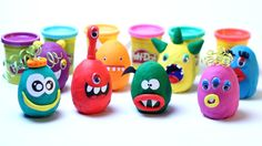 Play Doh Eggs Surprise Funny Monsters Frozen Hello Kitty Disney